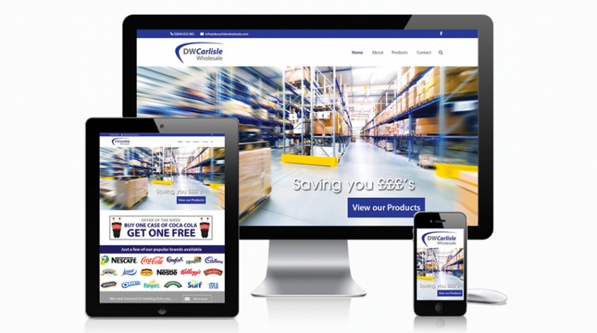 DW Carlisle Wholesale Web Design