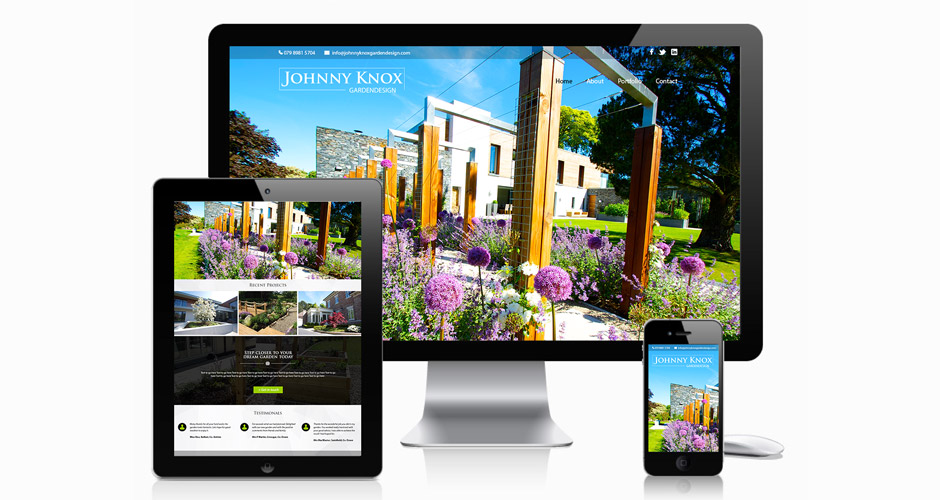 Johnny Knox Garden Design - Web Design Belfast | Website Designer Ni