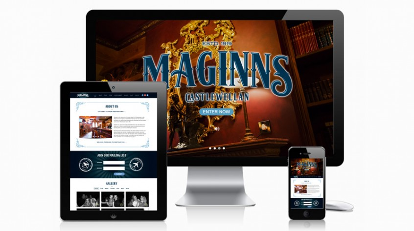 Maginns Bar Web Design