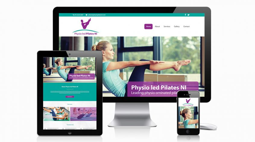 Physio Pilates NI Web Design