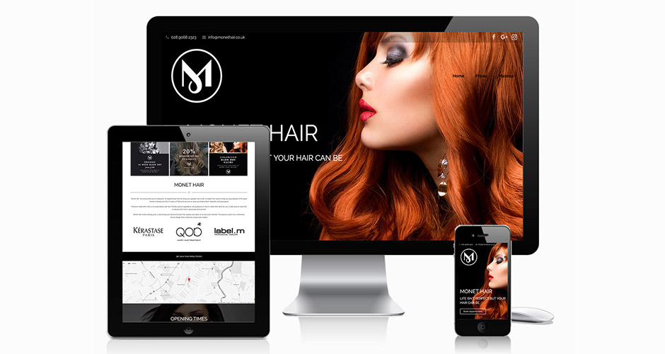 Monet Hair Website